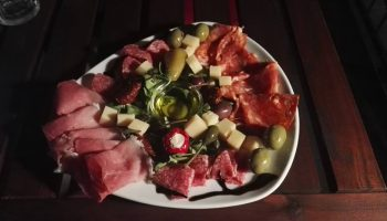 """Antipastiteller"" at Vino Cantina"